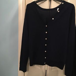 J Crew Navy Blue Sweater- Fits like a large